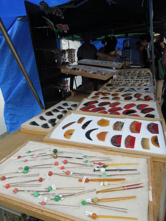 東寺弘法市のアンティーク着物