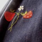 アンティーク・いちご刺繍スカート