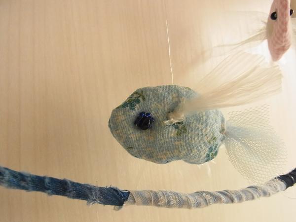 お魚ハンガーの水色の魚