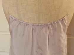 リメイクキャミソールの後衿ぐりゴム