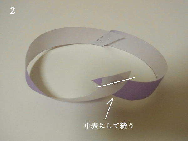バイアステープの輪はぎ方