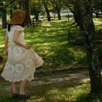 フレンチスリーブ・かぎ針編みドレス