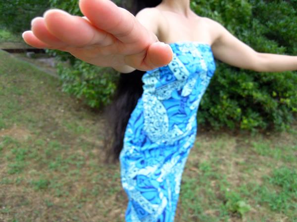 青いドレスのフラガール