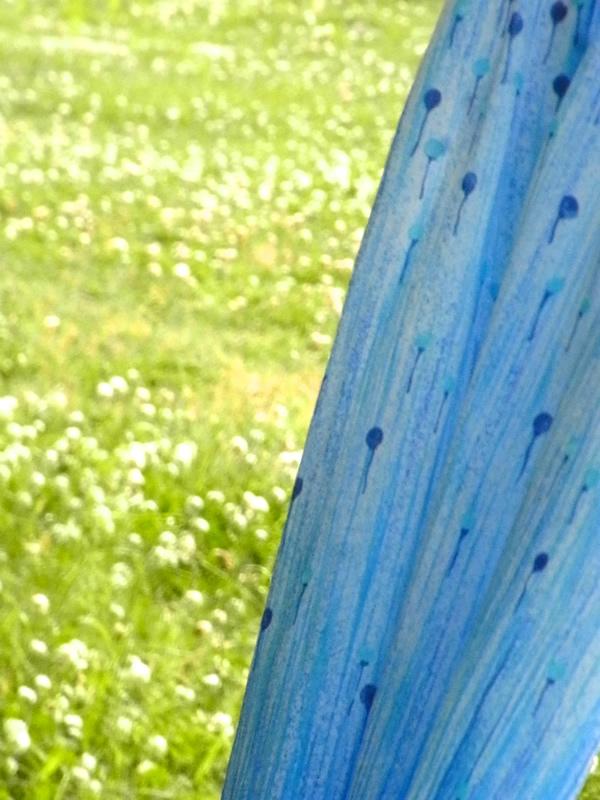 森の中のふうせんがらのスカート部分写真