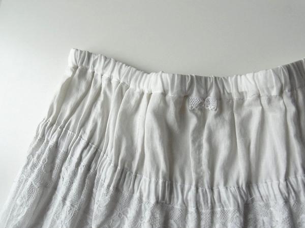 スカートのウエスト仕様