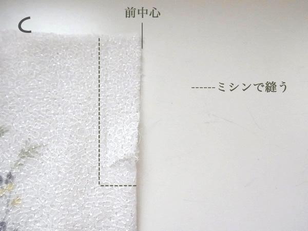 ミシンで縫うところの説明