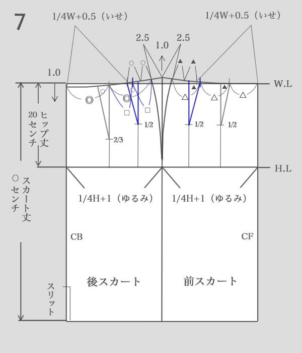 タイトスカートパターン作り方7