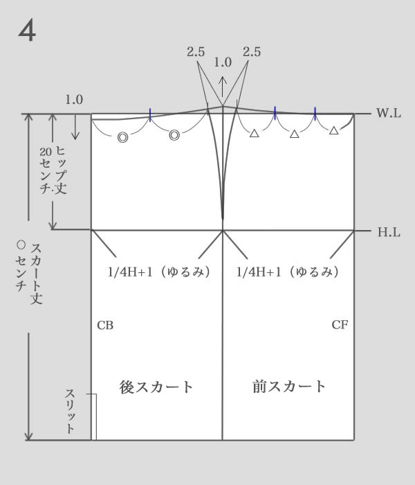 タイトスカートパターン作り方4