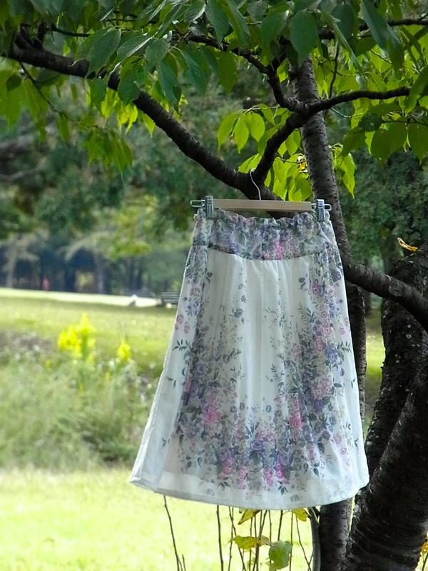 ヨーク付きウエストゴムスカートのパターン作り方