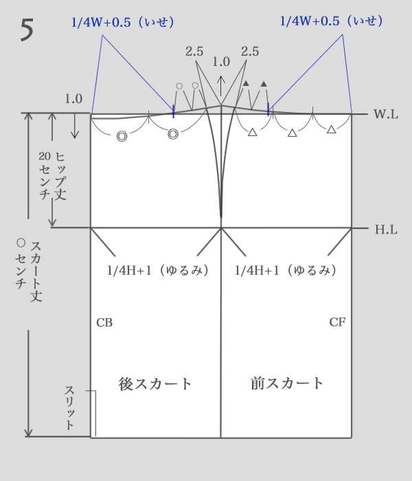 タイトスカートパターン作り方5