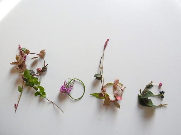 Robe viergeの花文字案