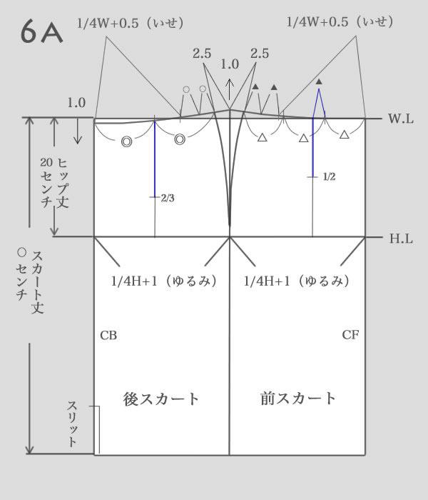 タイトスカートパターン作り方6a