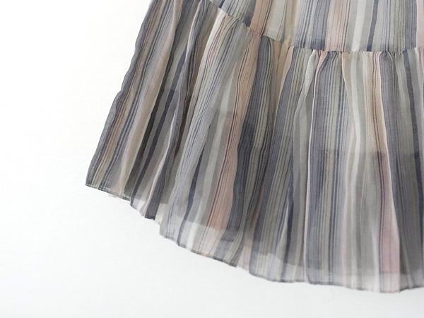 アンティークリメイクスカートの裾
