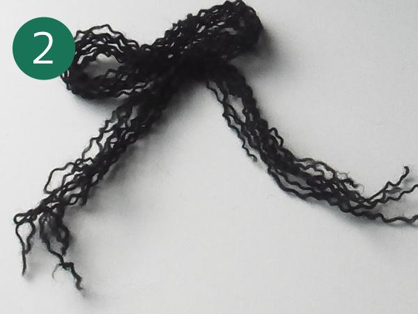 1本にほぐした毛糸
