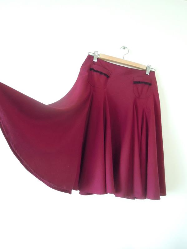 手作りフレアースカート