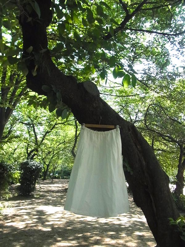 リメイク・サイズダウン白スカート