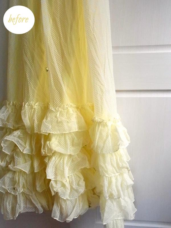 リメイク前の黄色ドレスのフリル