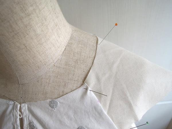 リメイクフリル袖の元型作成