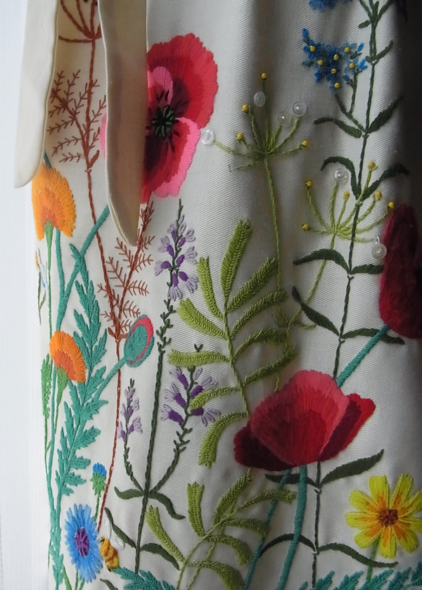アンティークフランス刺繍スカート