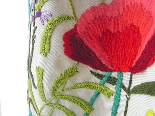 アンティーク刺繍スカート赤い花