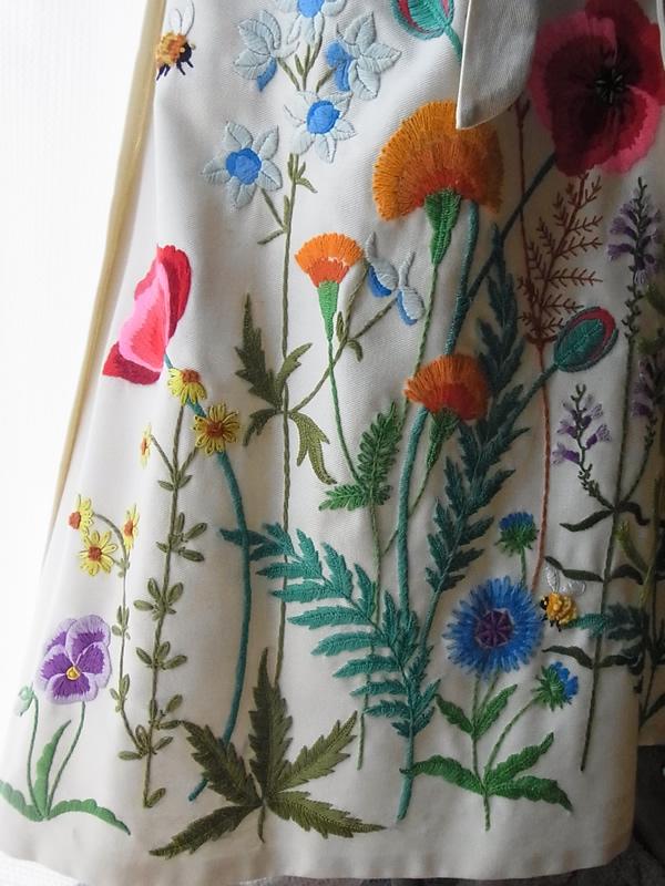 フランス刺繍アンティークラップスカート
