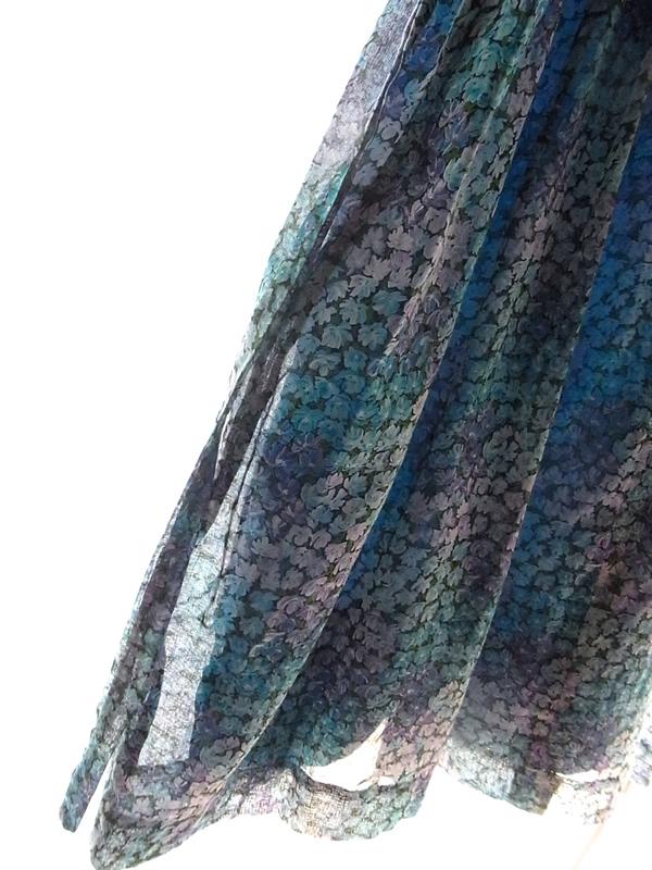 アンティークあじさい色のワンピーススカート