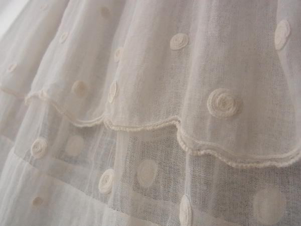 綿ローンスカートのスカラップ始末