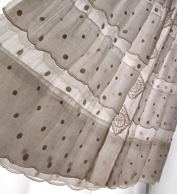 ヴィンテージ・綿ローンスカート