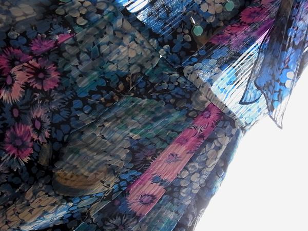 アンティーク紫陽花ワンピースウエスト周辺写真