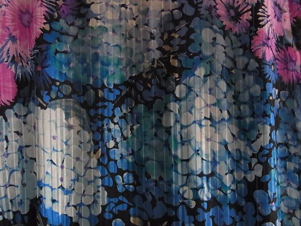 アンティーク紫陽花柄