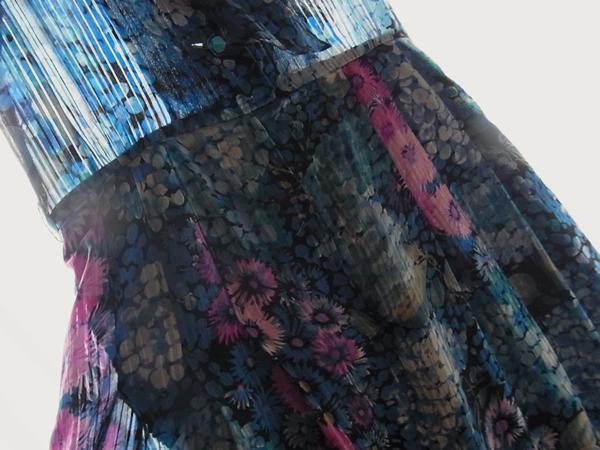 アンティーク紫陽花ワンピース前ウエスト周辺写真