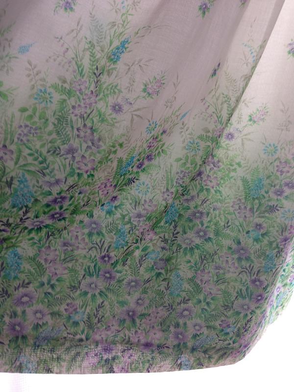 森の柄ワンピーススカート