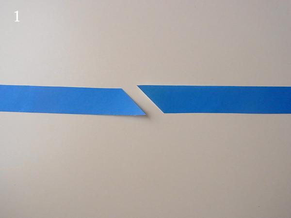 バイアステープの接ぎ目裁断