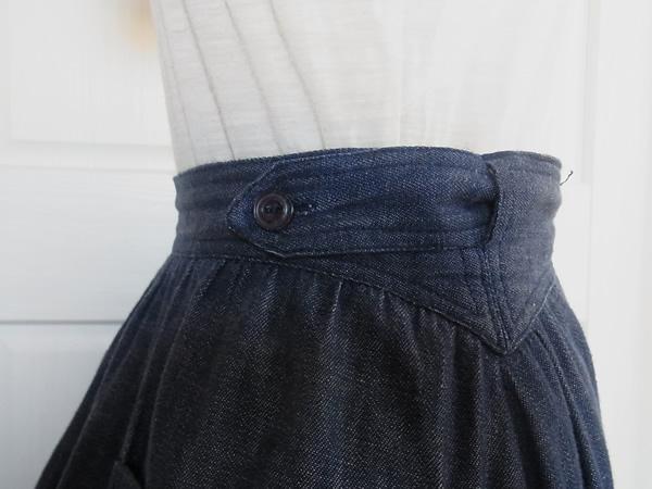 苺刺繍スカート右ウエスト