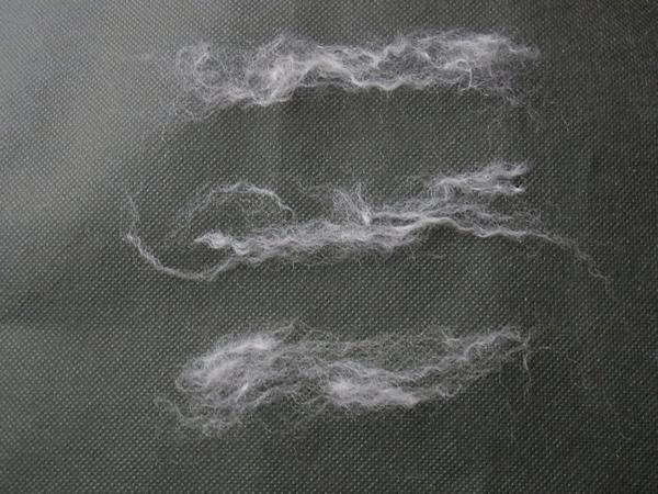 繊維化した毛糸