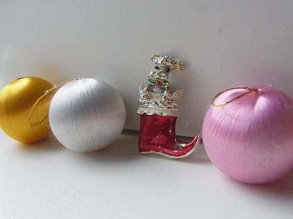 アンティークシルバーブローチ・クリスマス