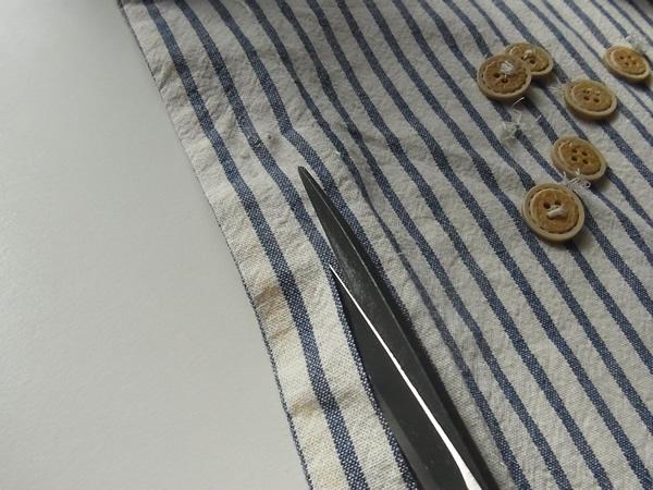 リメイクスカート作り方のワンピース裁断