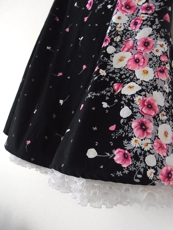 スカート裾・フリル縫い方