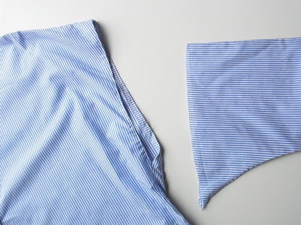 リメイク前のシャツの裁断