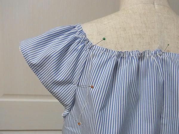 リメイク服の仮縫いチェック