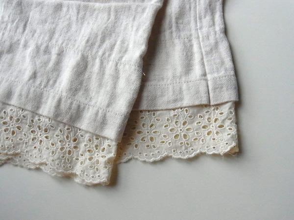 パンツの裾レース