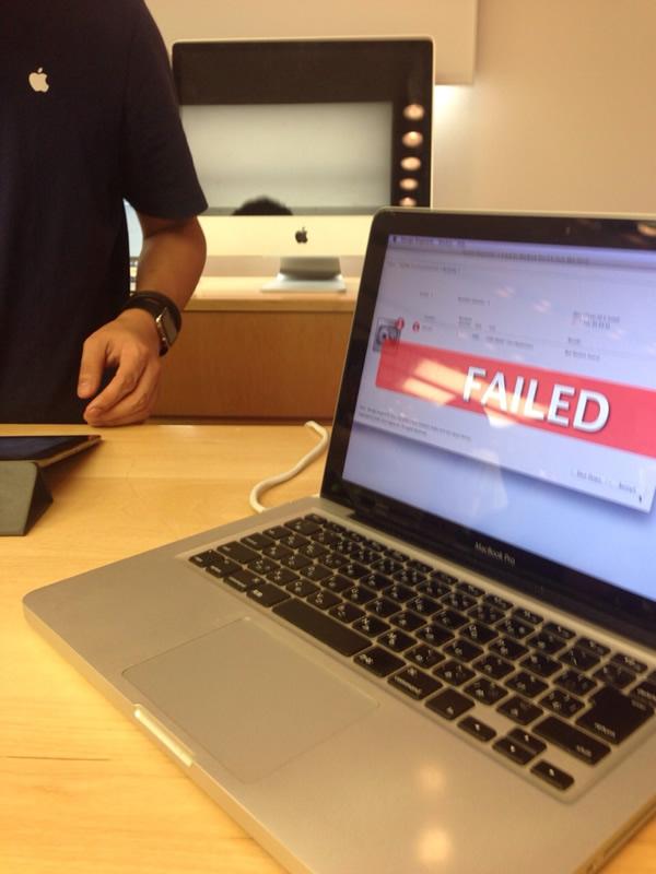 Macの故障