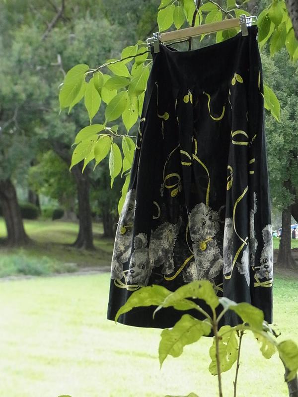 1950年代プードル柄スカート