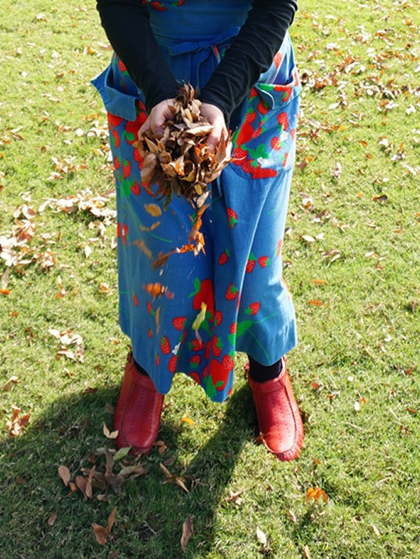 枯葉とワンピース