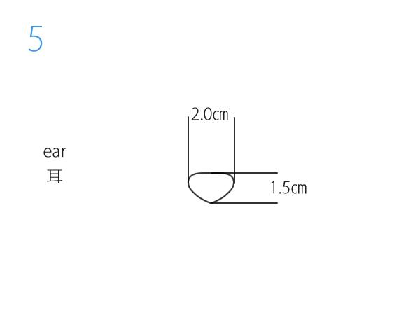 ねずみのパターン耳