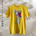 ライブTシャツリメイク・刺繡袖